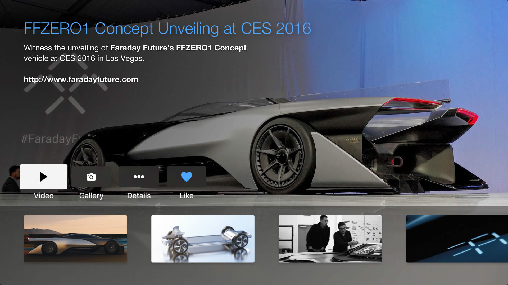 MobilityBlue Faraday Future FFZERO1 concept car