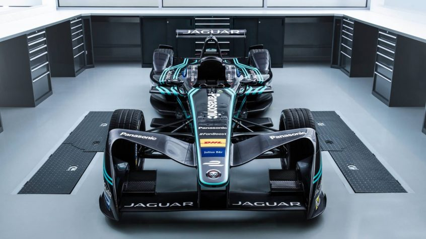 Jaguar unveils its I-TYPE all-electric Formula E race car