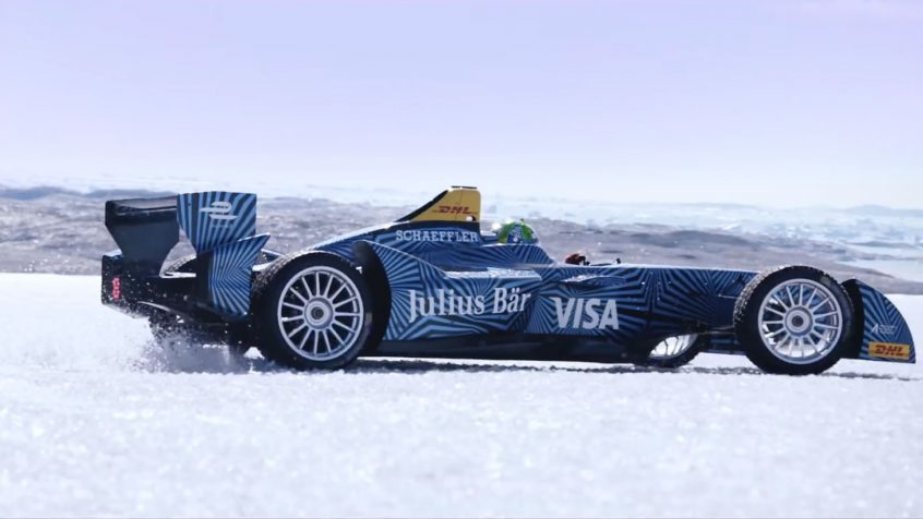 World First! Formula E Car Visits Arctic Ice Cap
