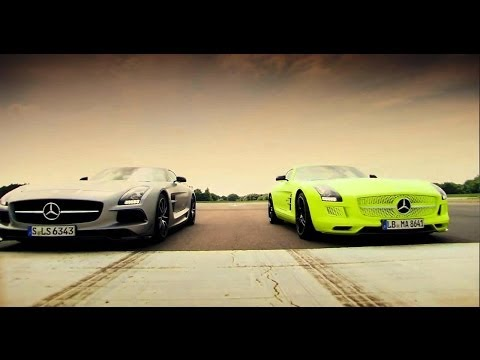 Petrol vs Electric – Mercedes SLS AMG Battle
